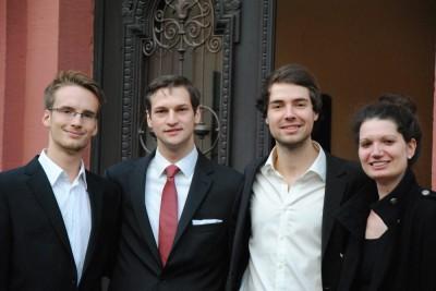Nikos Bosse, Alexander Hiller, Tobias Kube, Sarah Kempf (vlnr)
