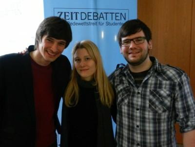 Die Sieger aus Mainz: Daniil, Andrea und Willy
