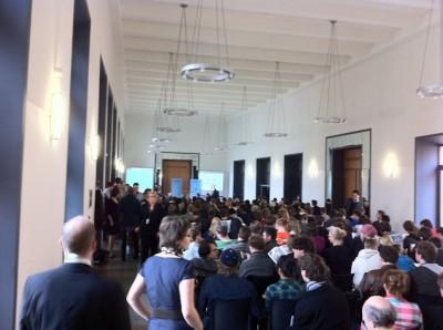 Ein voll besetztes Magdeburger Rathaus zum Finale der ZEIT DEBATTE