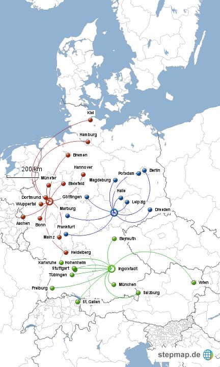 Stepmap Karte Zuschnitt Der Regionalmeisterschaften Des Vdch 2013
