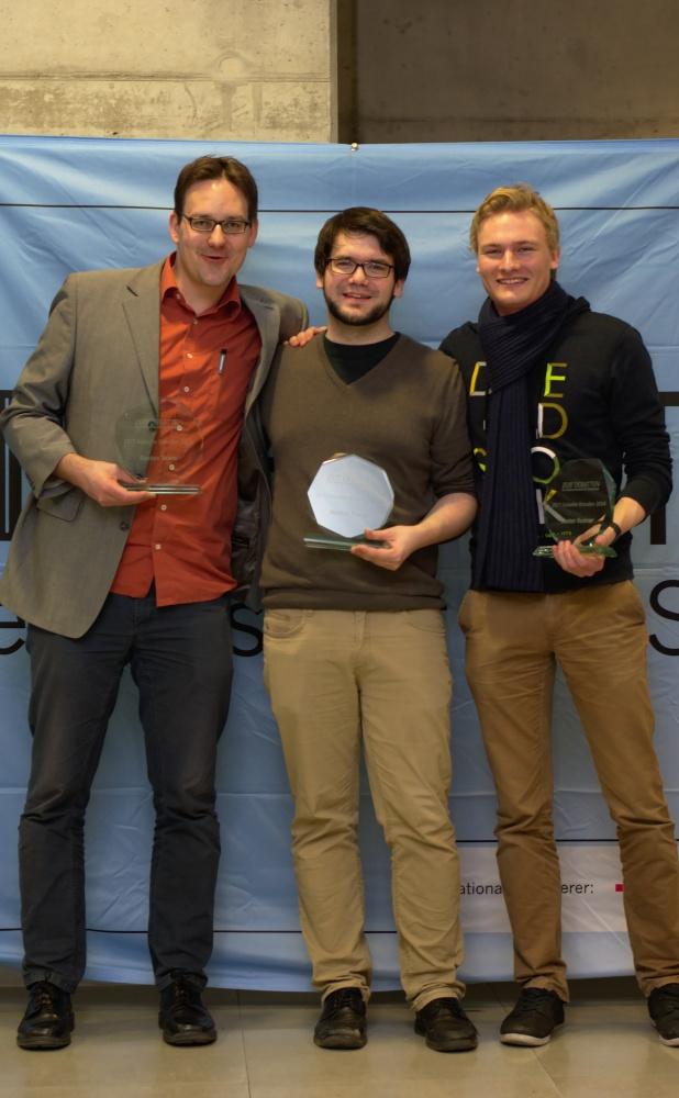 Die strahlenden Sieger: Thore Wojke, Willy Witthaut, Marc- Andre Schulz (v.l.n.r.) (Foto: Jan Stöckel)