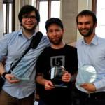 Sieger der ZEIT DEBATTE Wien: Willy Witthaut, Sascha Schenkenberger, Christian Strunck (v.l.n.r.) (c) AFA DC Wien