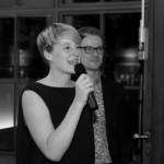 Anna Mattes bei der Deutschsprachigen Debattiermeisterschaft 2014 (c) H. Maedler