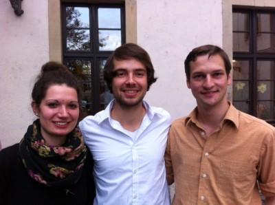 Neuer Vorstand in der Amtszeit 2014/14: Sarah Kempf, Tobias Kube, Alexander Hiller (v.l.n.r.)  (c) F. Umscheid