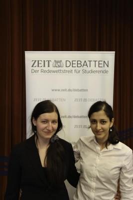 Siegerinnen der ZEIT DEBATTE Oberfranken: Marion Seiche und Pegah Maham (v.l.)