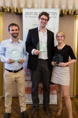 Christian Strunck, Nicolas Eberle und Sina Strupp gewinnen die Meisterschaft für Mainz (c) Carcasona