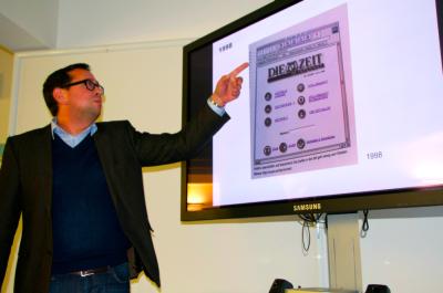 Enrique Tarragona, Stellvertretender Geschäftsführer von ZEIT Online, gab numerische Einblicke in die Entwicklung der Onlinepräsenz (c) VDCH